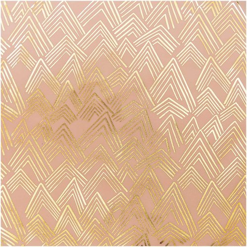 Baumwolle - Berge - rosa hot foil - Alpaca Collection - Rico Design