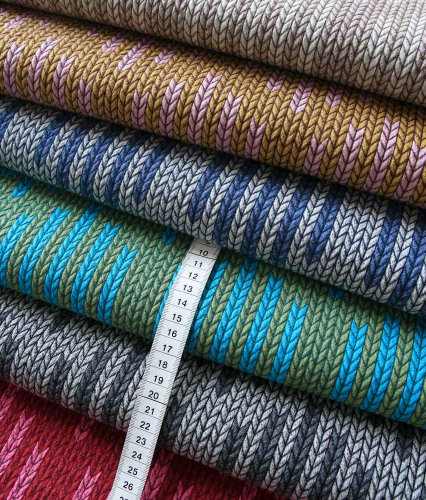 Bio Jacquard Jersey - Big Knit Check List - Col. 06 - Check Point - Hamburger Liebe