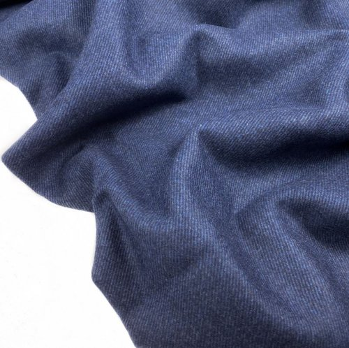 Tweedflanell - Elisa - blau - made in Italy - Swafing
