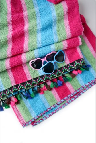 Frottee - Fluffy Stripes - multicolor - At the beach - Hamburger Liebe