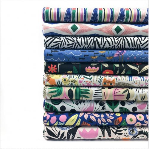 Bio Baumwolle - Jungle Forest - Wild - Cloud9 Fabrics