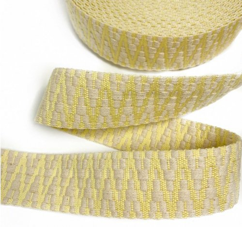 Gurtband - Aztec - ecru/light yellow - 4cm