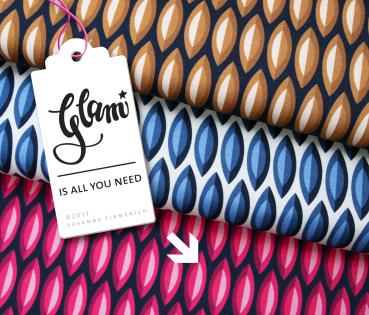 Bio Jersey - GLAM is all you need - pink - Hamburger Liebe