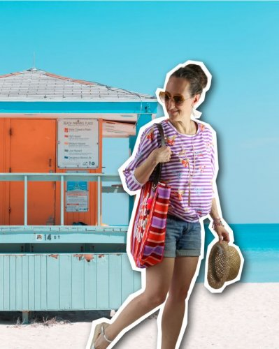Jersey - Summer Vibes - lila - At the beach - Hamburger Liebe