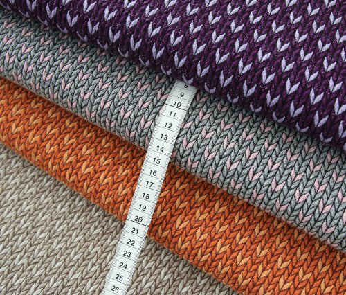 Bio Jacquard Jersey - Big Knit Stitches - Col.5 - Check Point - Hamburger Liebe