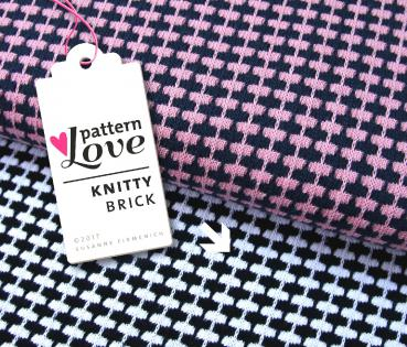 Bio Strick - Knitty Brick - schwarz/weiß - Pattern Love - Hamburger Liebe