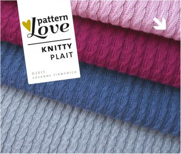 Bio Strick - Knitty Plait - rose mélange - Pattern Love - Hamburger Liebe