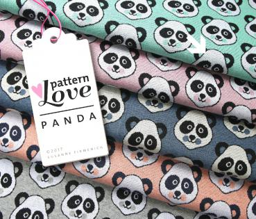 Bio Jacquard - Panda - mint - Pattern Love - Hamburger Liebe