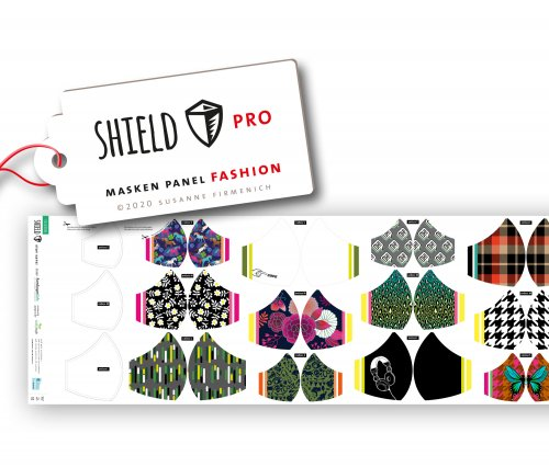 SHIELD PRO Panel - FASHION - runde Masken - Albstoffe - Hamburger Liebe