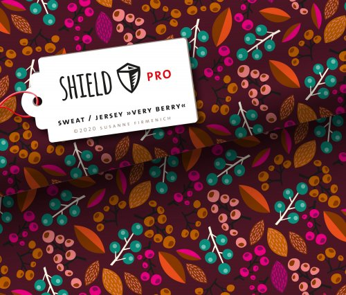 SHIELD PRO Sweat - Very Berry - bordeaux - antimikrobiell - Albstoffe - Hamburger Liebe