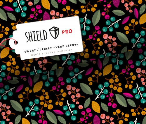 SHIELD PRO Sweat - Very Berry - schwarz - antimikrobiell - Albstoffe - Hamburger Liebe