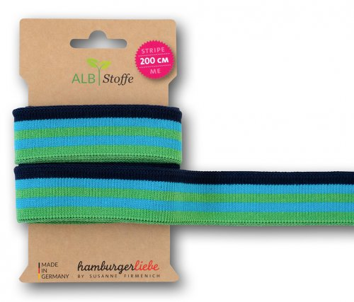 Bio Stripe Me - College Col. 63 - Plain Stitches - Hamburger Liebe - Albstoffe