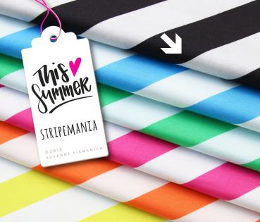 Bio Jersey - Stripemania - schwarz - This Summer - Hamburger Liebe