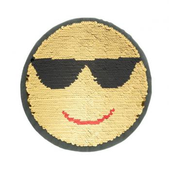 Applikation - Wendepailletten - Smiley - Patches