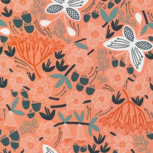 Bio Baumwolle - Alice Holt orange - Stockbridge - Cloud9 Fabrics