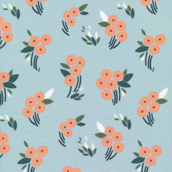 Bio Baumwolle - Buck's Oak Blue - Stockbridge - Cloud9 Fabrics