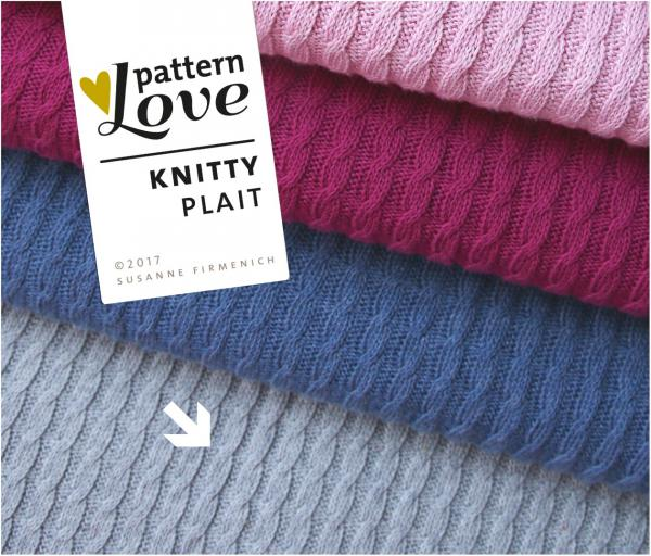 Bio Strick - Knitty Plait - grau - Pattern Love - Hamburger Liebe