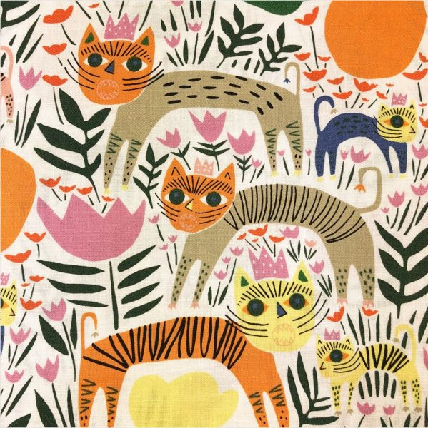 Bio Baumwolle - Queen of Beasts - Wild - Cloud9 Fabrics